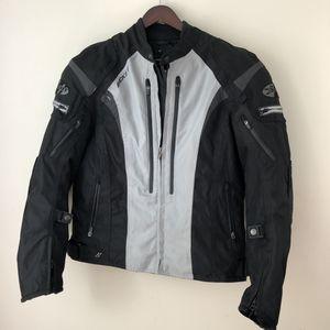 Motorcycle Jacket JOE ROCKET Bikers MEN'S Size Large Armored Padded Jacket #033435 Black Gray for Sale in Rockville, MD