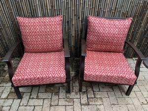 "Allen + Roth ""Gateway"" Patio Chairs with Ottomans for Sale in Washington, DC"
