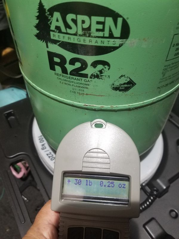 R22 Freon For Sale >> 22lbs 25 Oz Of R22 Freon Get It While It Lasts For Sale In