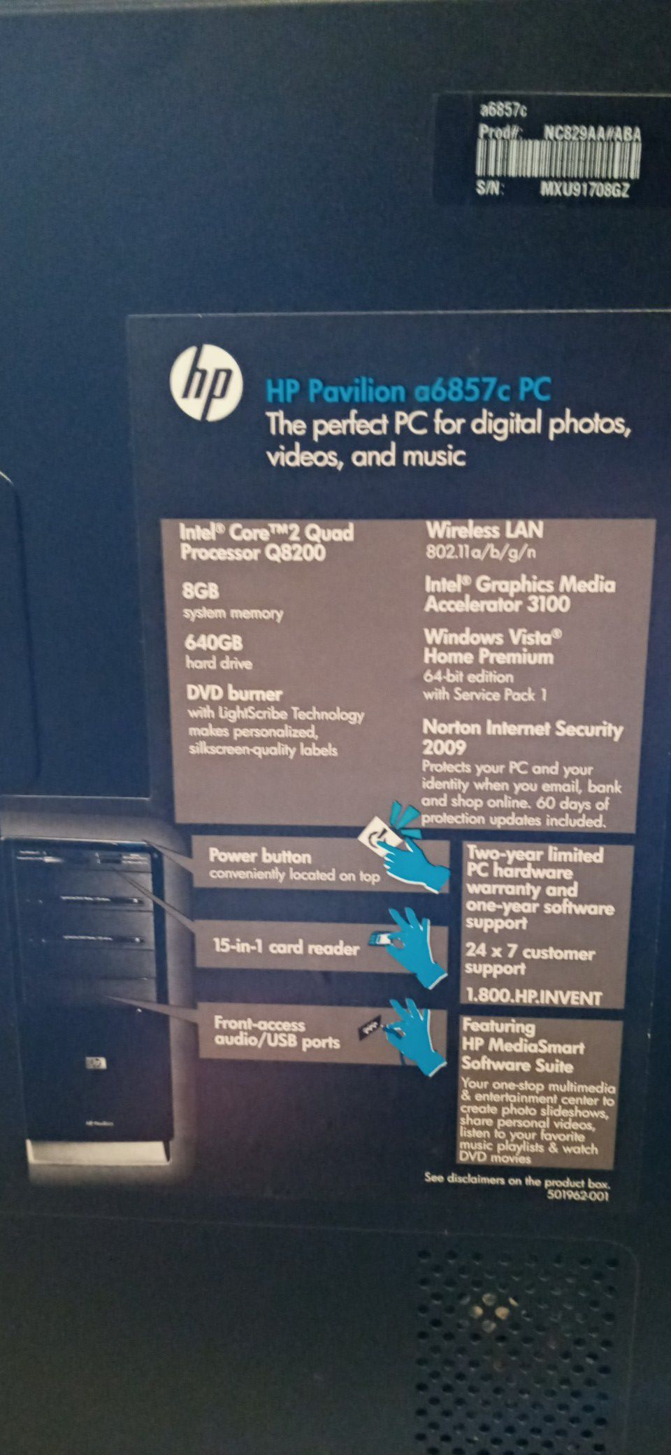 HP Pavilion Desktop, Windows 10 and Ubuntu OS installed!!!! Must see!!