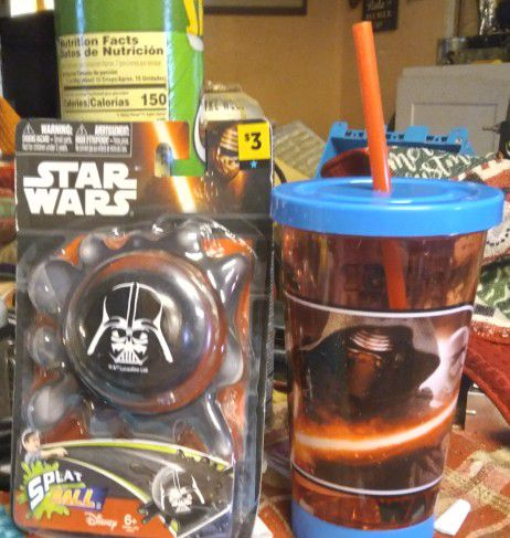 Star Wars Splat Ball Toy,  And Drink cup