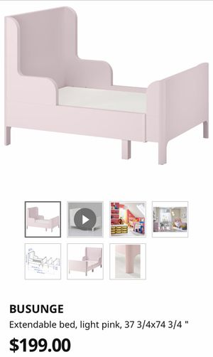 Photo Light pink Bed set with Pink Drawers