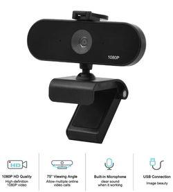 Seeings Guardnes 1080P FHD HD Webcam, USB Desktop Laptop Camera, Mini Plug and Play Video Calling Computer Camera, Built-in Mic, Flexible Rotatable Cl Thumbnail