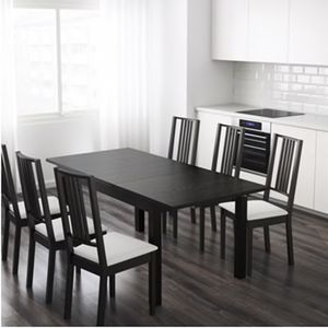 IKEA BJURSTA DINING TABLE AND CHAIRS for Sale in Upper Marlboro, MD