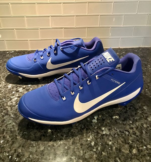online store 01695 c5834 NEW Mens Nike Air Clipper 17 Blue Metal Baseball Cleats Flywire Max Air  Size 12