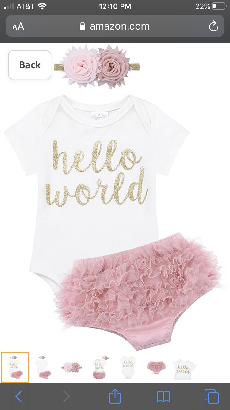 Brand new still in package Newborn baby girl outfit