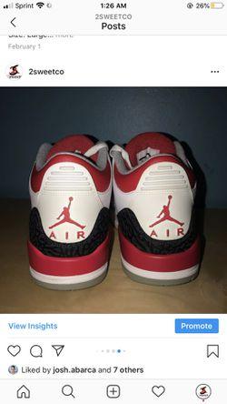 Air Jordan 3 Fire Red size 8 Thumbnail