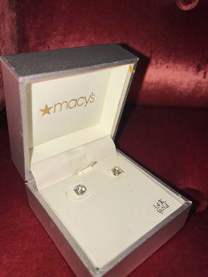 Diamond Stud Earrings 24K White Gold for Sale in Washington, DC