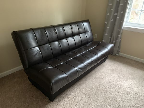 Leather Convertible Futon Couch Sleeper for Sale in Charlotte, NC ...