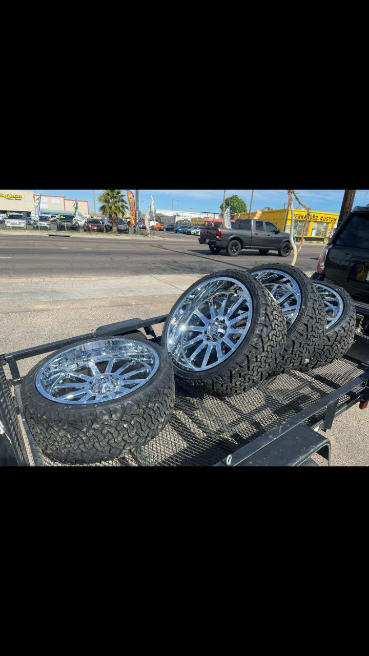 24x12 MONKEY WHEELS AND TIRES 295/35/24