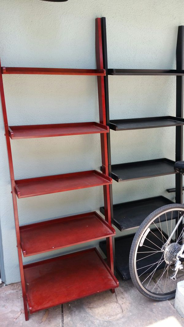Black And Or Cherry Wood Ladder Bookshelf For Sale In Oakland CA