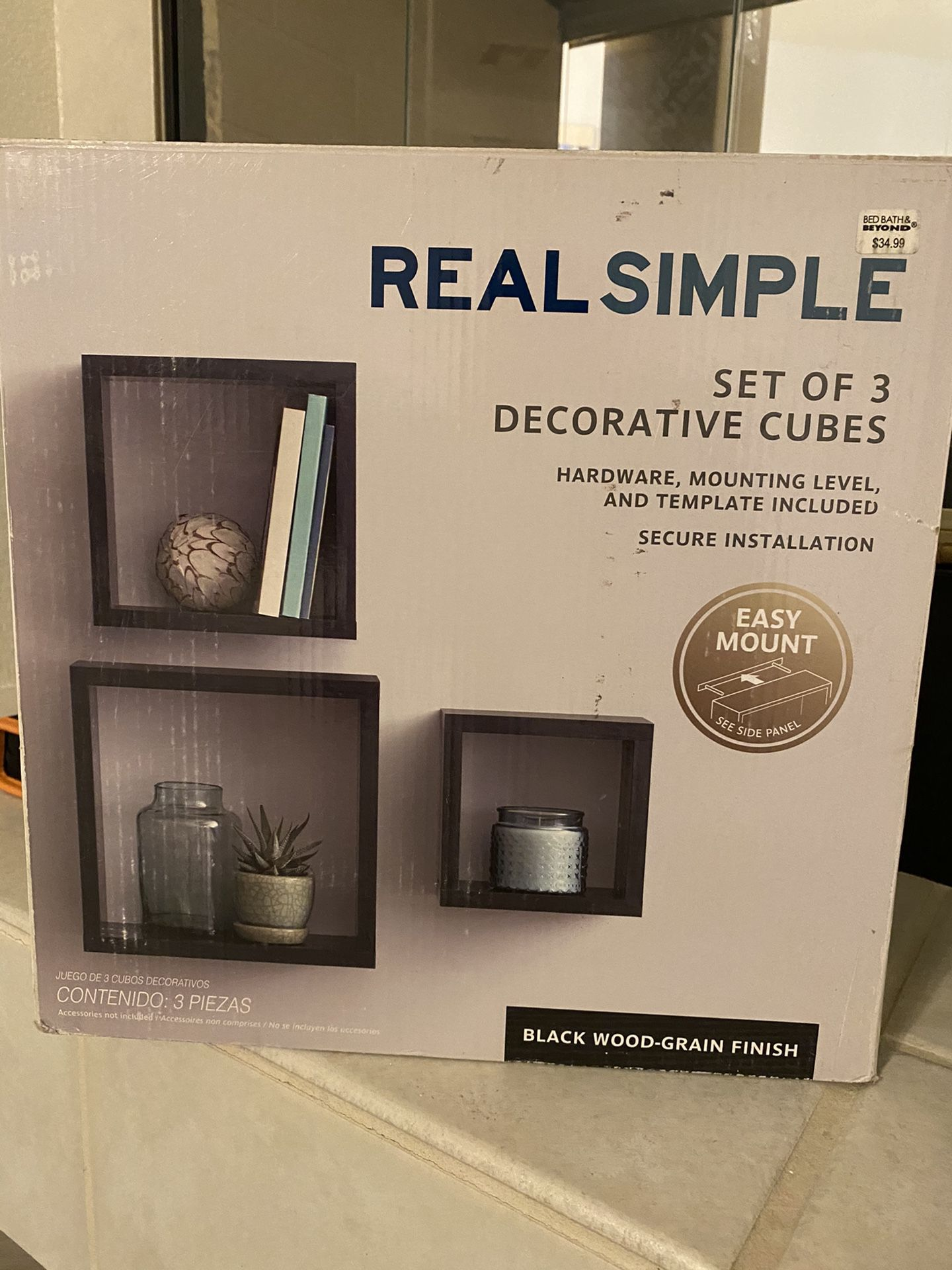 Wall Shelves - Set of 3 decorative cubes