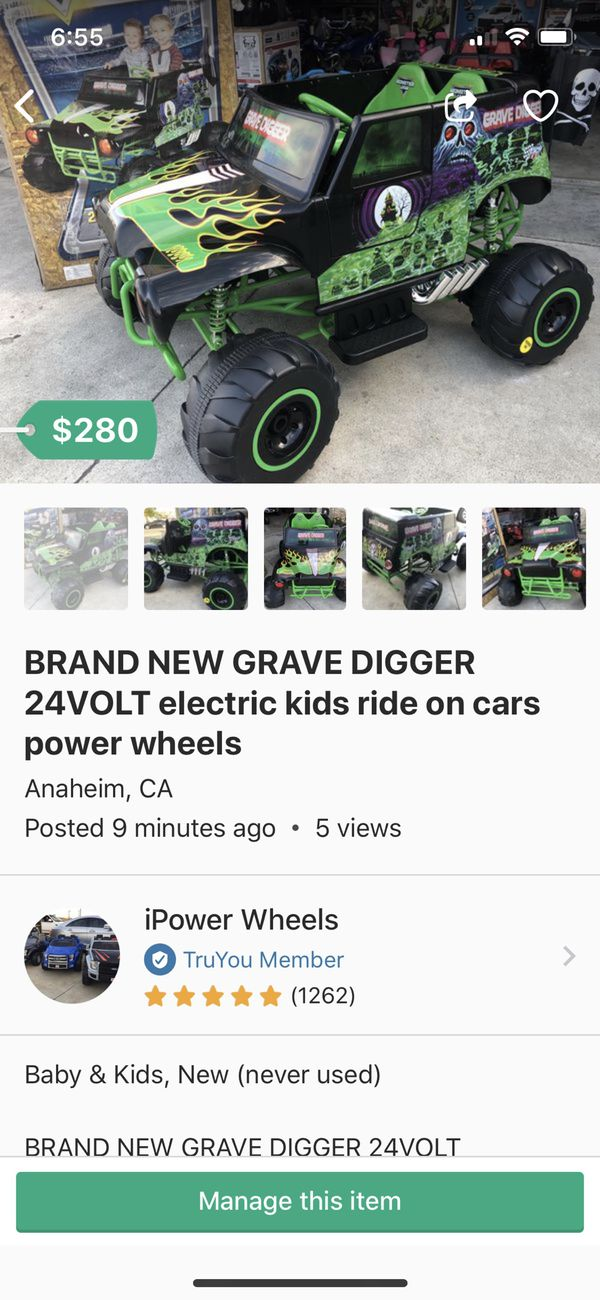 Brand New Grave Digger 24volt Electric Kids Ride On Cars Wheels For In Anaheim Ca Offerup