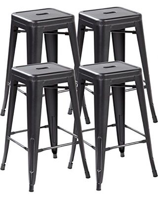 4x Brand New 30 Black Metal Bar Stool Barstools For Sale In Brea