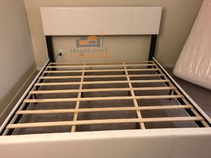 Brand New Queen Size Leather Platform Bed for Sale in Silver Spring, MD