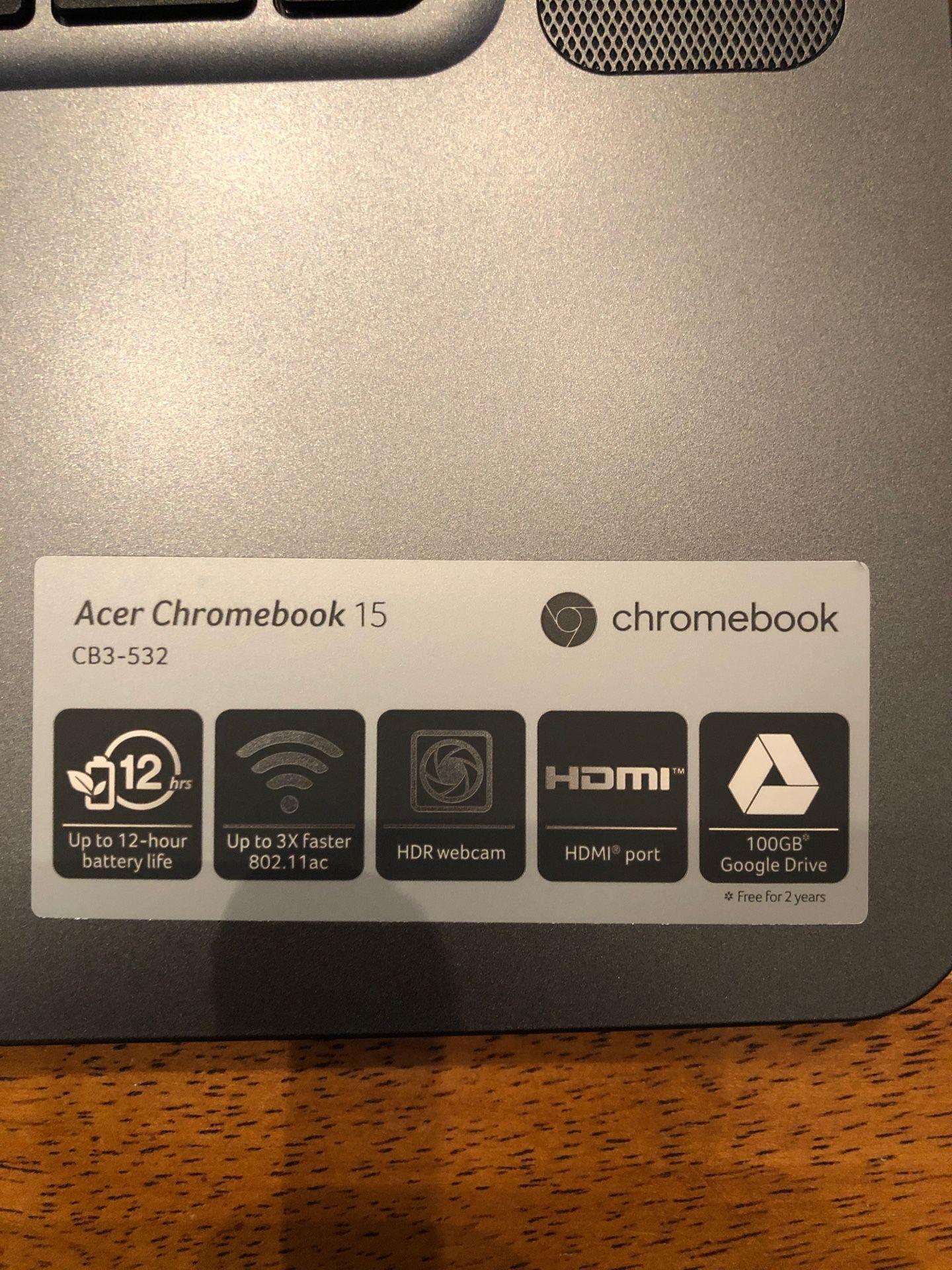 Acer 15 inch Chromebook 2017
