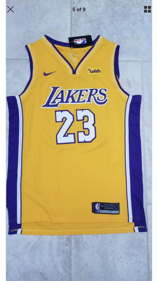 cea92facce6 Men s LA Lakers Nike Gold Authentic LeBron James Jersey for Sale in ...