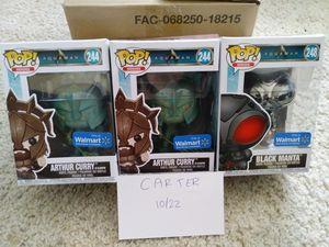 Aquaman Arthur Curry & Chrome Black Manta (wm exclusives) for Sale in Manassas, VA