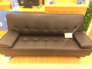 Dark Brown Bonded Leather Futon Sofa For Sale In Dallas Tx
