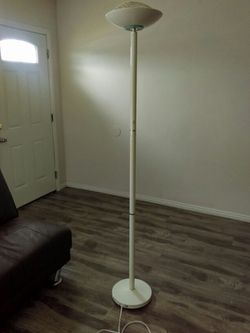 White Floor Lamp Working Great Condition Thumbnail