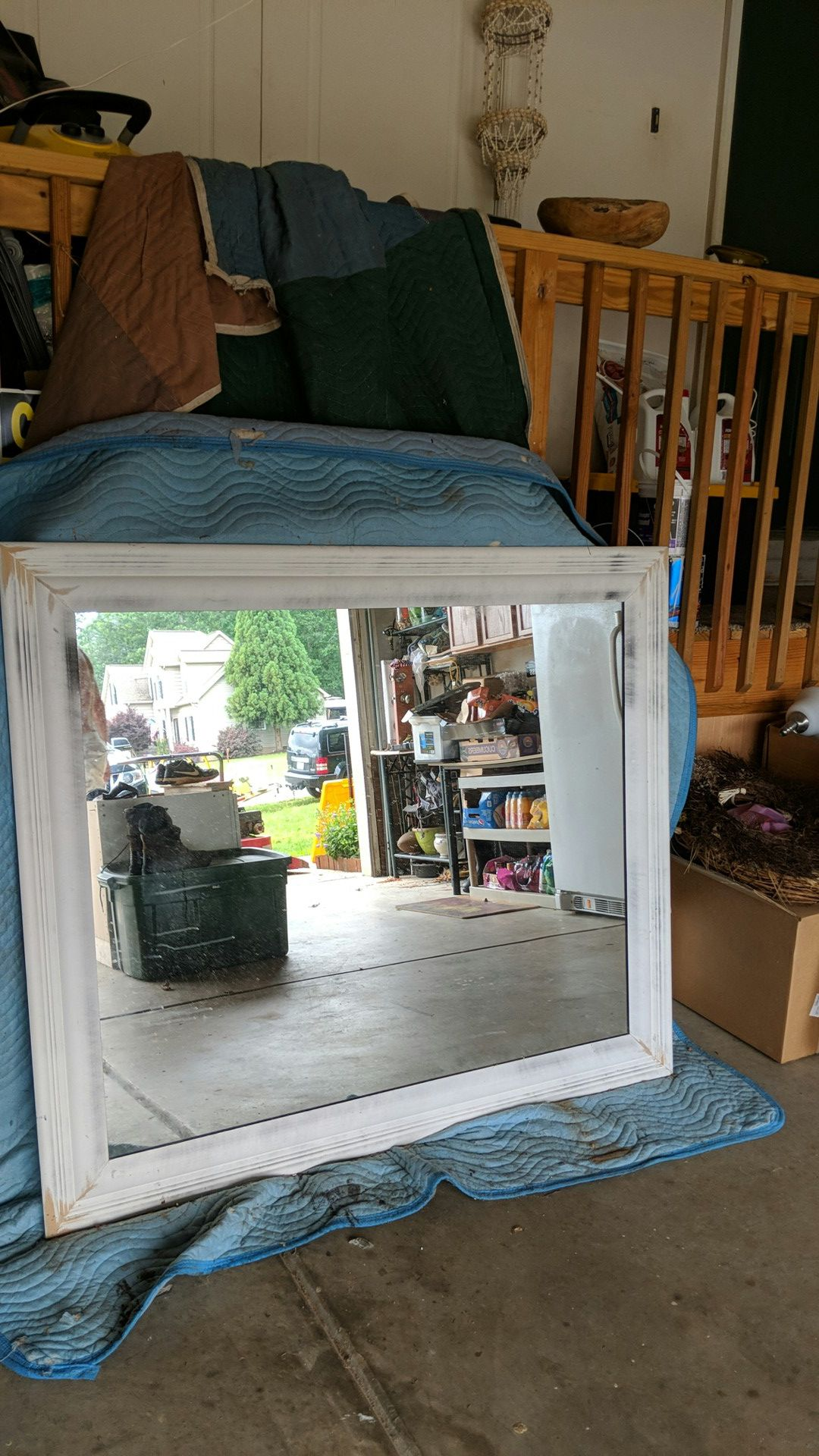 Mirror clear custom frame made primed and ready to paint any color you want