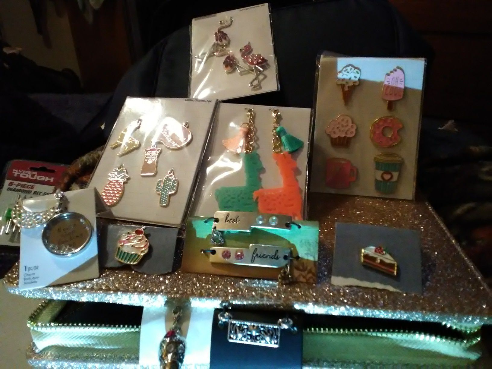 Charms,bracelets,earrings,necklace,and any kind of jewelry you can want!