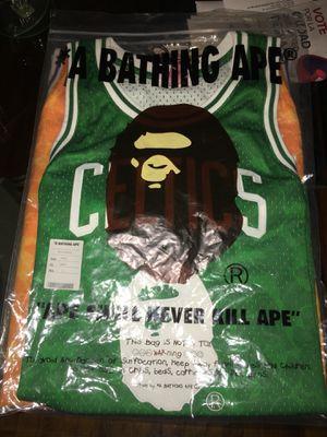 b8ca5067796 Bape x Mitchell   Ness NBA Swingman Jersey Celtics size Small brand new w  tags for