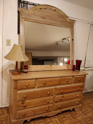 "Nice wooden dresser with big drawers and big mirror in good condition. L60""*W18.5""*H34.5"" for Sale in Annandale, VA"