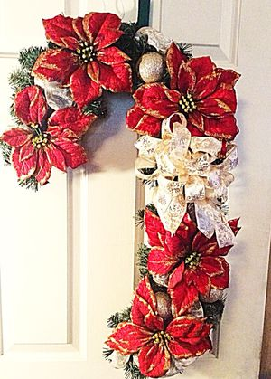 Christmas Candy Cane Wreath for Sale in Inwood, WV