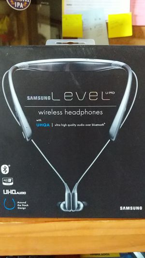 Samsung Level U Pro Bluetooth Wireless In-ear Headphones with Microphone and UHQ Audio, Black for Sale in Tucson, AZ