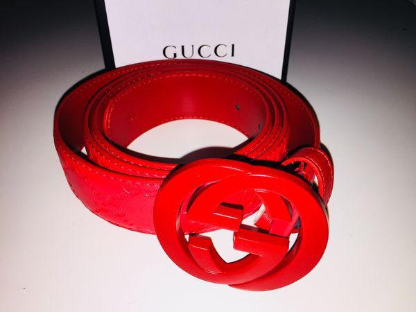 fd84bc4bc97 All red Gucci belt! for Sale in Mountain View