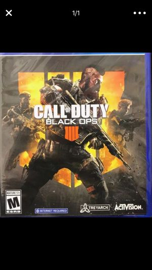 Super Low!!! Call of duty black ops 4 for PS4 for Sale in Washington, DC