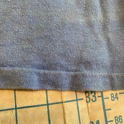 Vintage 90's Oregon Hearts Cropped T-Shirt Blue Single Stitched Size Medium Thumbnail