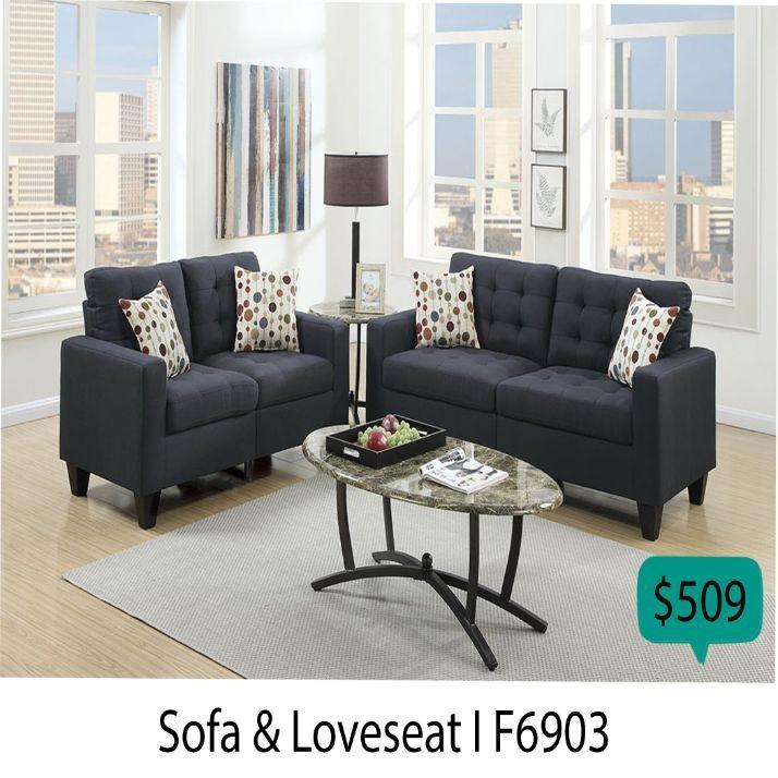 Living Room Set 2 Pieces ( Sofa + Loveseat )