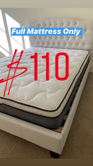 Photo LOCATED IN LOS ANGELES❗️WE DELIVER ❗️ BRAND NEW PILLOW TOP MATTRESSES💯 COLCHONES NUEVOS PILLOW TOP 💯 Queen $120 ❌ $180 With Box Spring 💥💥 FULL SIZ