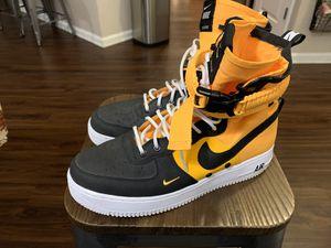 Photo Nike Air Force 1 HI - Black/Yellow 10.5US