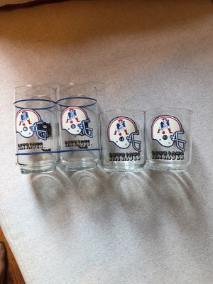 NFL vintage officially licensed New Englad Patriots glasses for Sale in Washington, DC