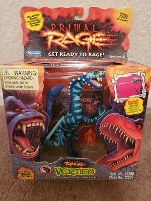 Photo New in Box Near Mint/Mint Condition Rare 1994 Playmates Primal Rage Vertigo Action Figure. Must Pick Up. Shipping Available.
