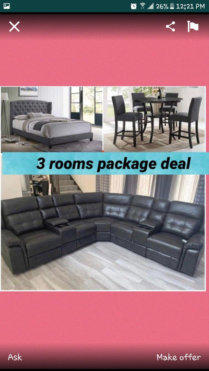New 3 rooms of furniture package deal /$29 down