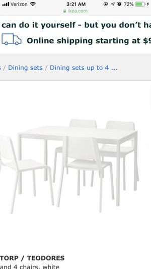 Ikea kitchen table with 4 chairs for Sale in Washington, DC