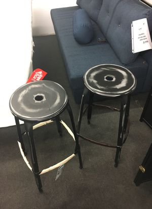 Set of 2 antique black bar stools for Sale in Alexandria, VA