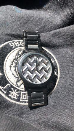 michael kors Hartman Chevron Pavé Gunmetal-Tone Watch Thumbnail