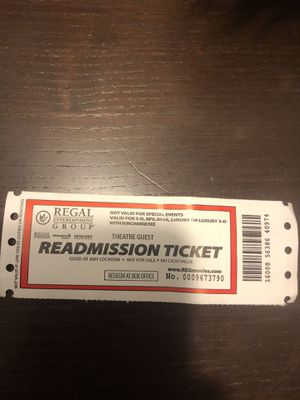 Movie ticket for Sale in Germantown, MD