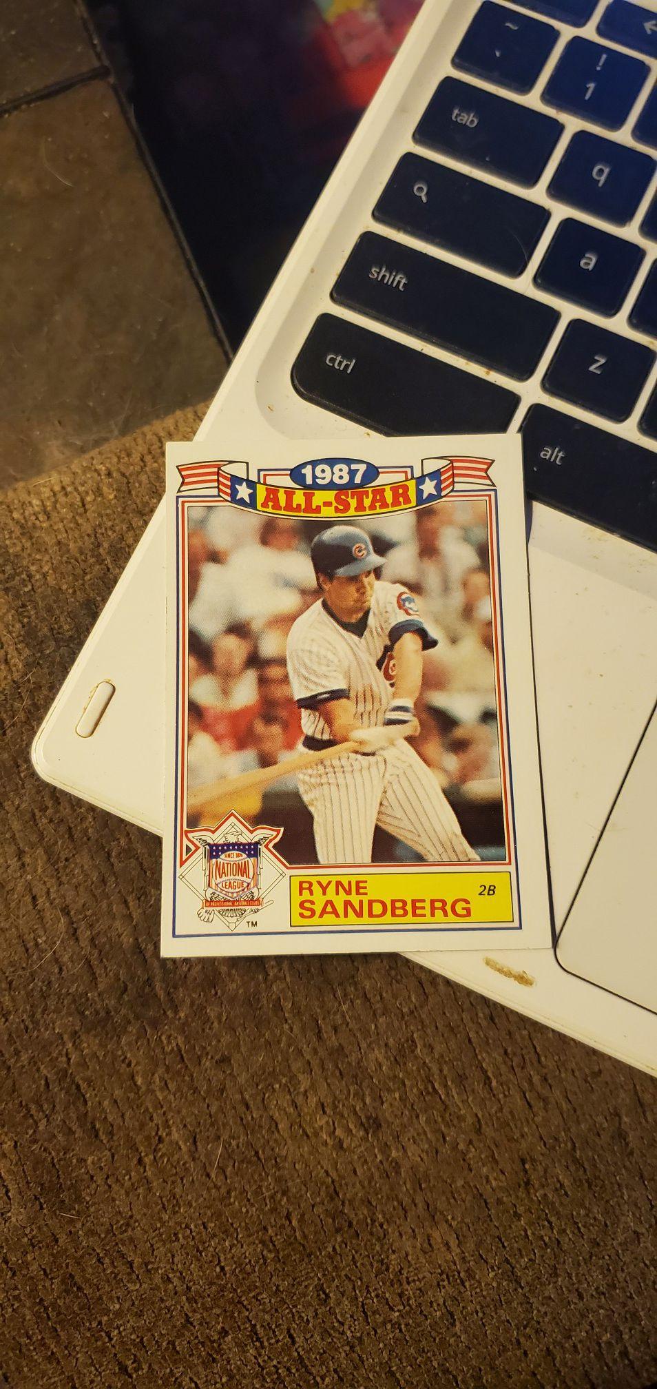 Ryne sandberg baseball card