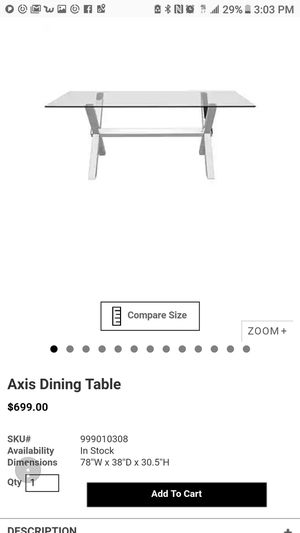 Axis dining table from Z GALLERIE for Sale in Salt Lake City, UT