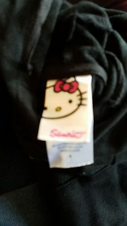 Hello Kitty black pullover hoodie size small Thumbnail