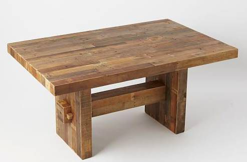 36896340877 West elm Emmerson reclaimed wood dining table-reclaimed pine for ...