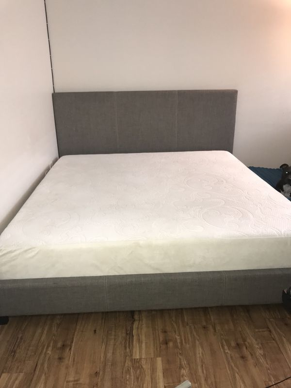 King Size Bed Frame With Terpurpedic Mattress For Sale In Denver CO
