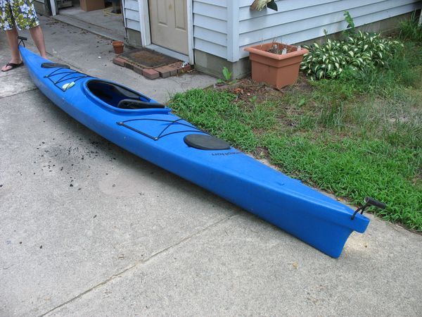 Kayak: Perception Carolina 14 5 with paddle and spray skirt for Sale in La  Mesa, CA - OfferUp