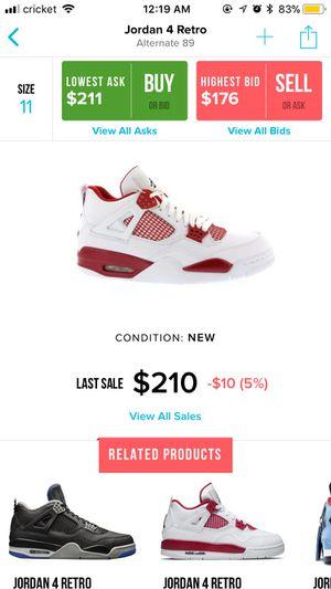 "Air Jordan 4 ""Alternate 89"" Size 11 for Sale in Annandale, VA"